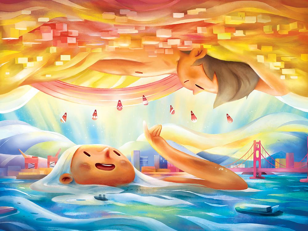 """""""Upside Down"""" by Samuel Lee"""
