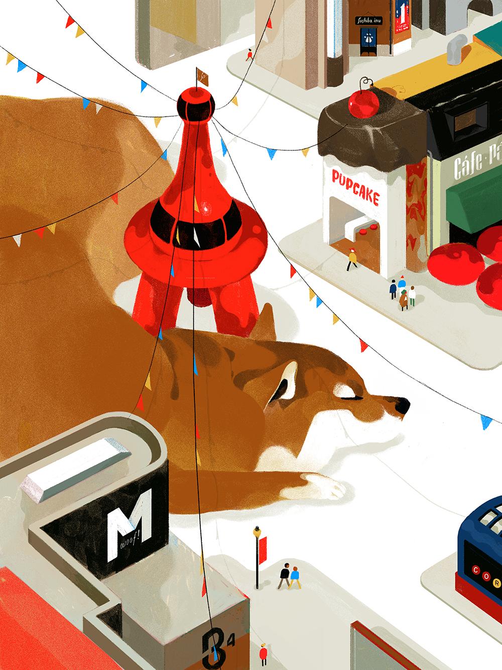 """""""Doggy Dog World (Play on Dog Eat Dog World)"""" by Leonard Peng"""