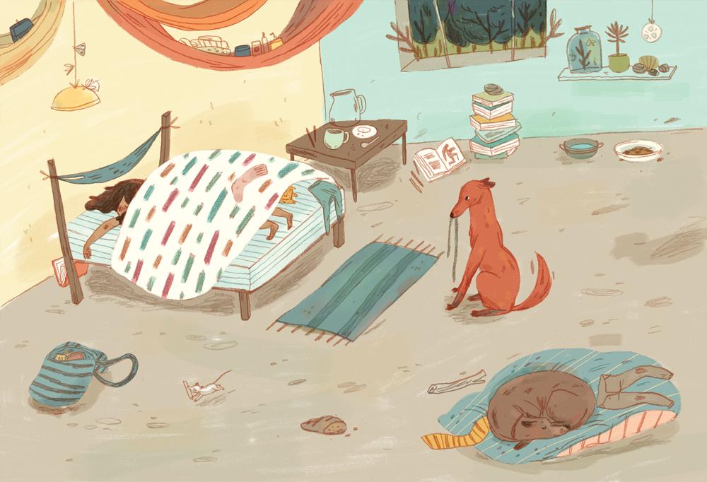 One of Luisa's pieces for Illustrations selected for the VI Catálogo Iberoamericano de Ilustración 2015