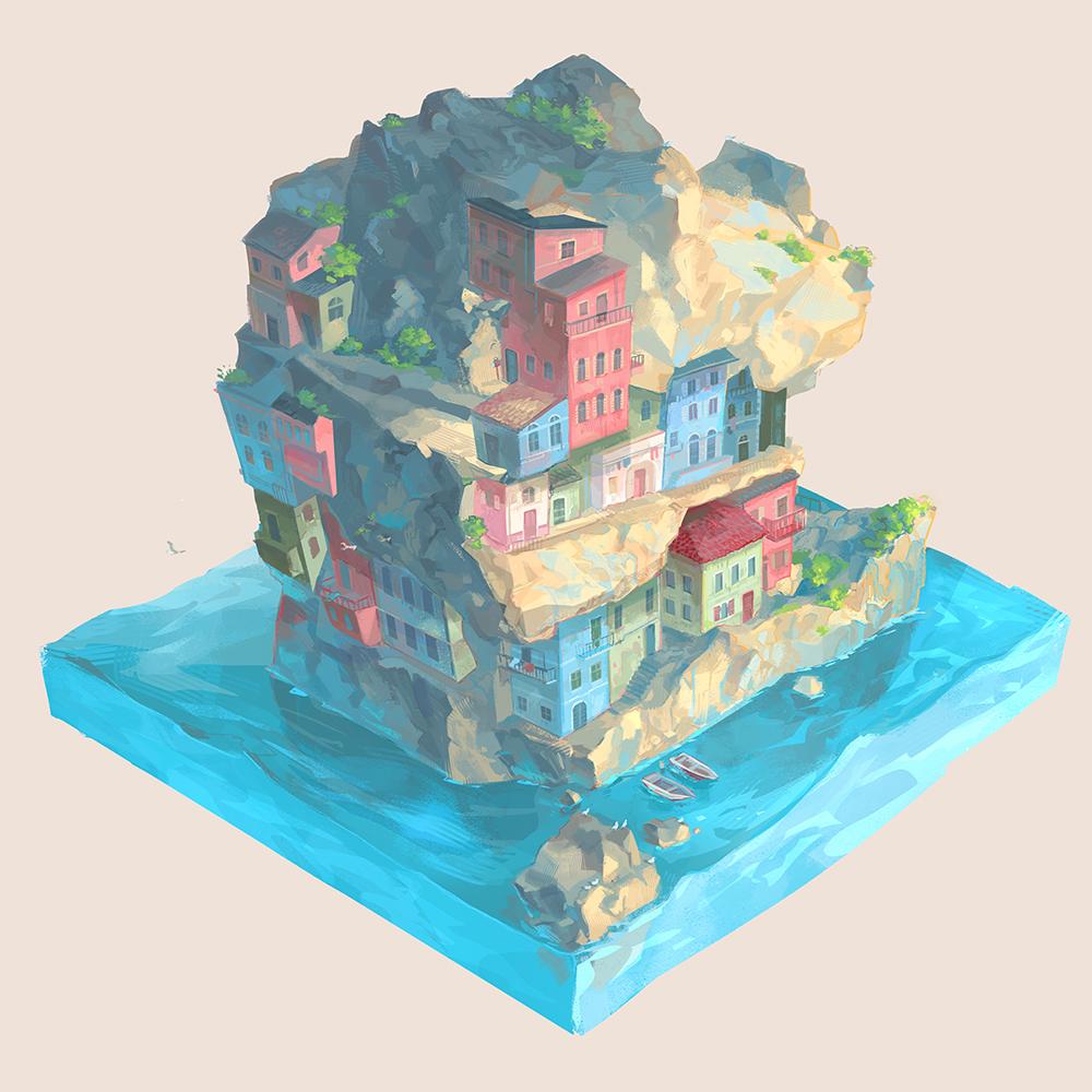 """""""Cliffside"""" by Elisabeth Baumgartner"""