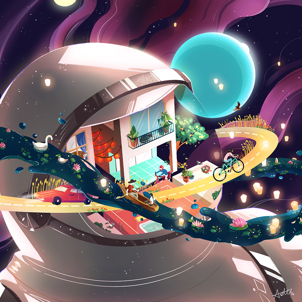 """In Orbit"" by Aster Hung"
