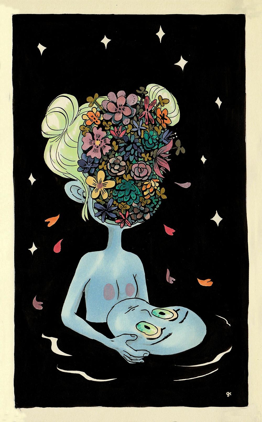 """""""Flowers Inside Me"""" by Grace Kim"""