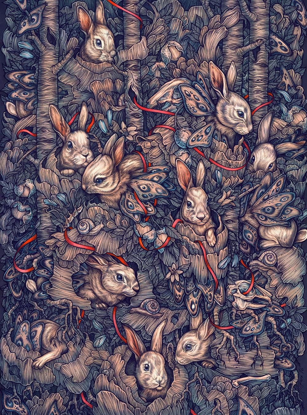 """Bunnerflies"" by Kate O'Hara"
