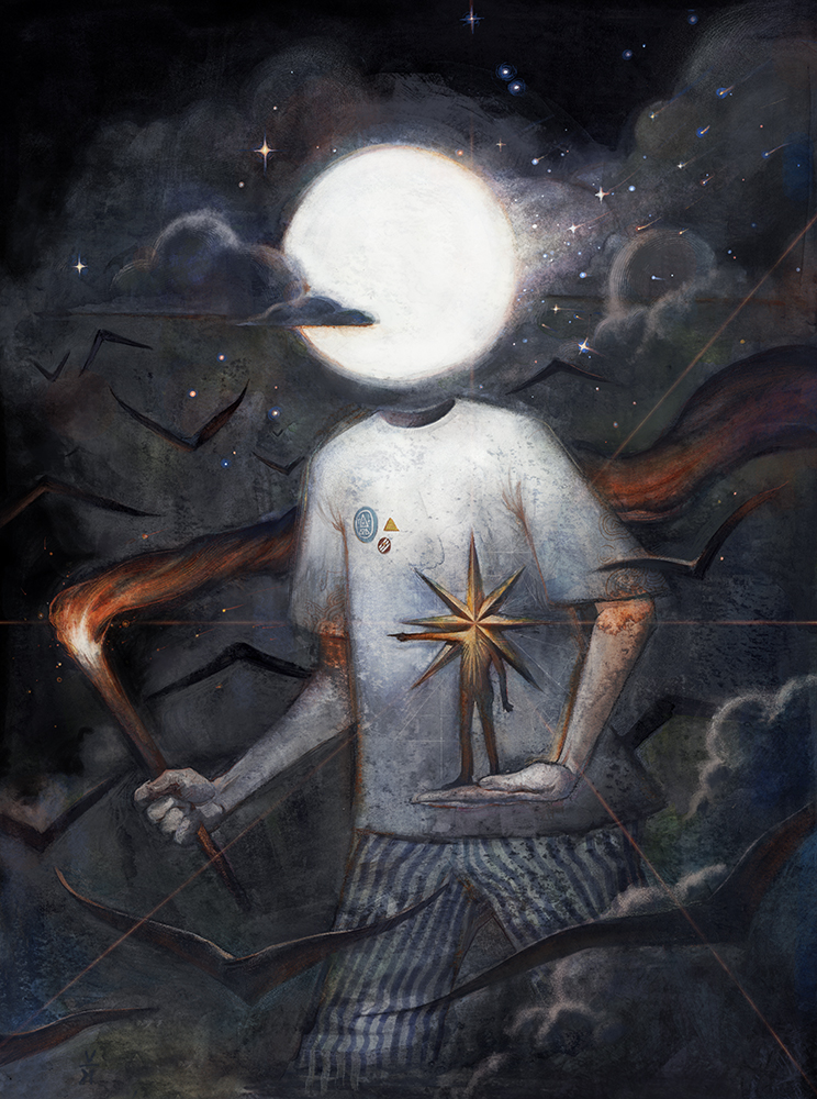 """Moonboy and His Starguide"" – Varsam Kurnia"