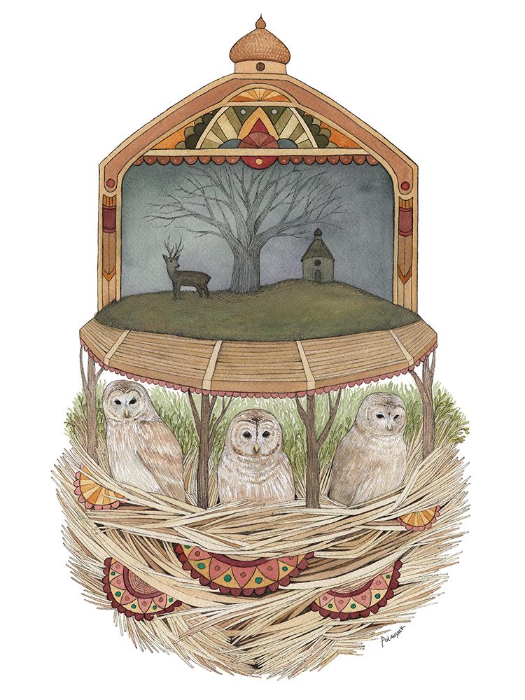 """The Owls Convened"" – Jess Polanshek"