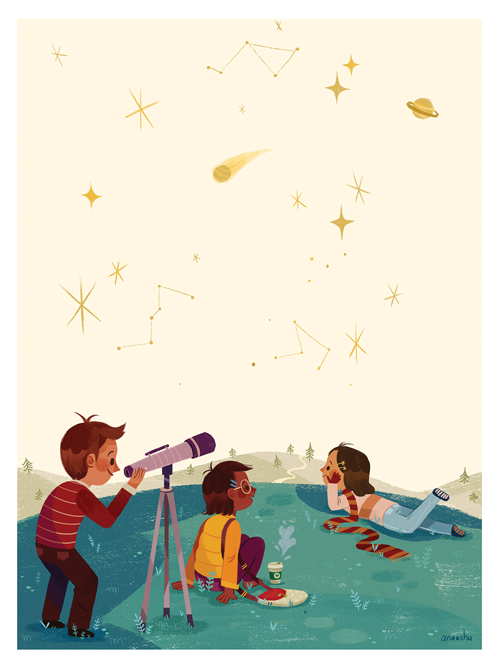 """Cosmic Latte"" by Anoosha Syed"