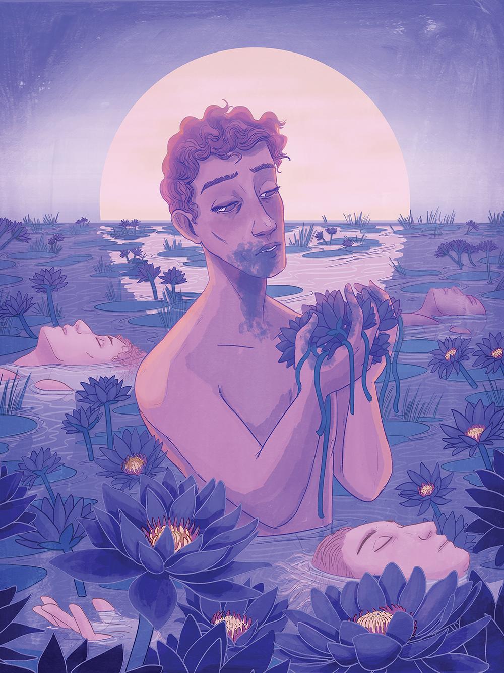 """Blue Lotus"" by Hari Conner"