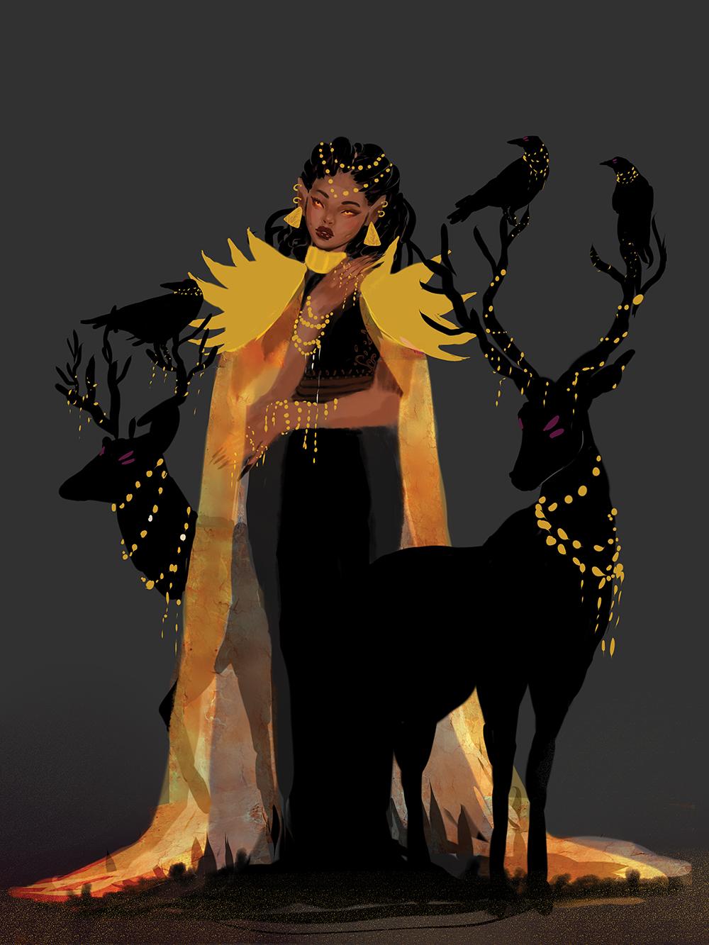 """The Goldenrod Woman"" by Muna Abdirahman"