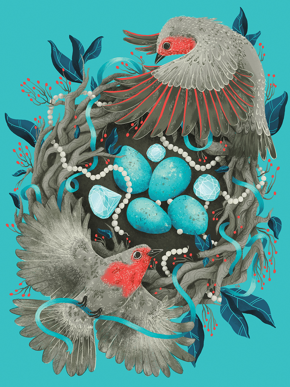 """Robin's Egg Blue"" by Monica Amneus"