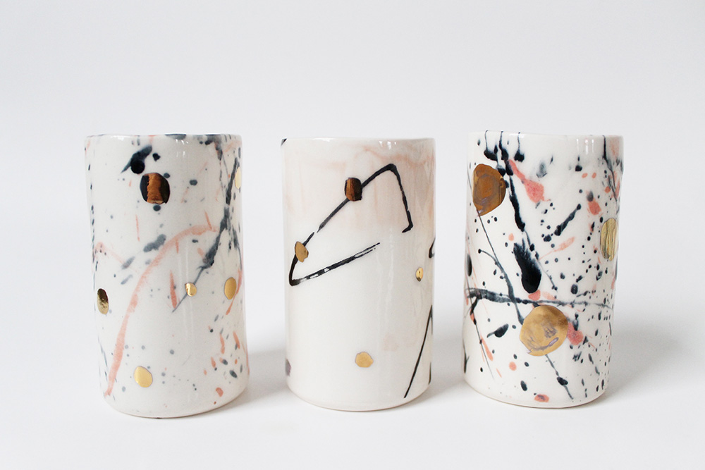 """""""Black, Pink, and Gold Tumblers"""" – Janelle Gramling"""