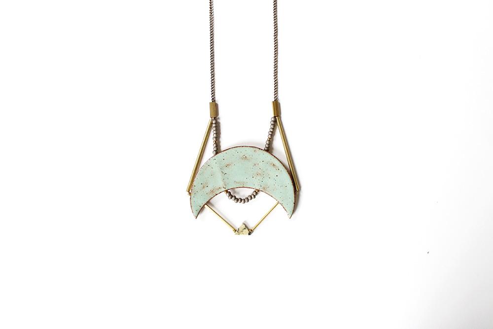 """""""Caged Crescent Necklace"""" – Janelle Gramling"""