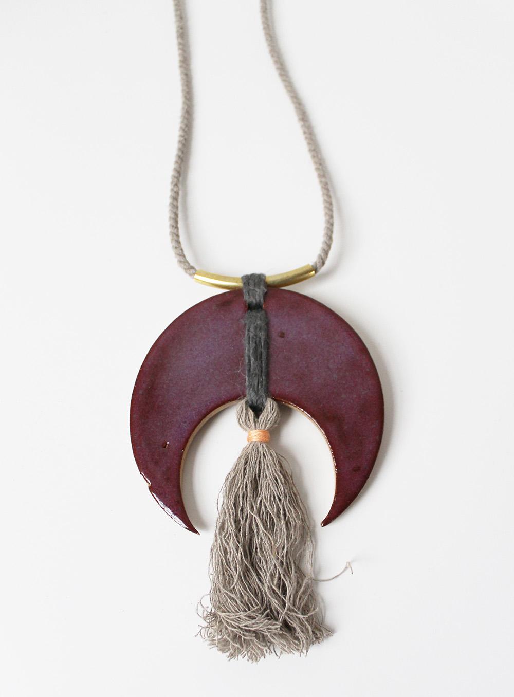"""""""Deep Crescent Necklace"""" – Janelle Gramling"""