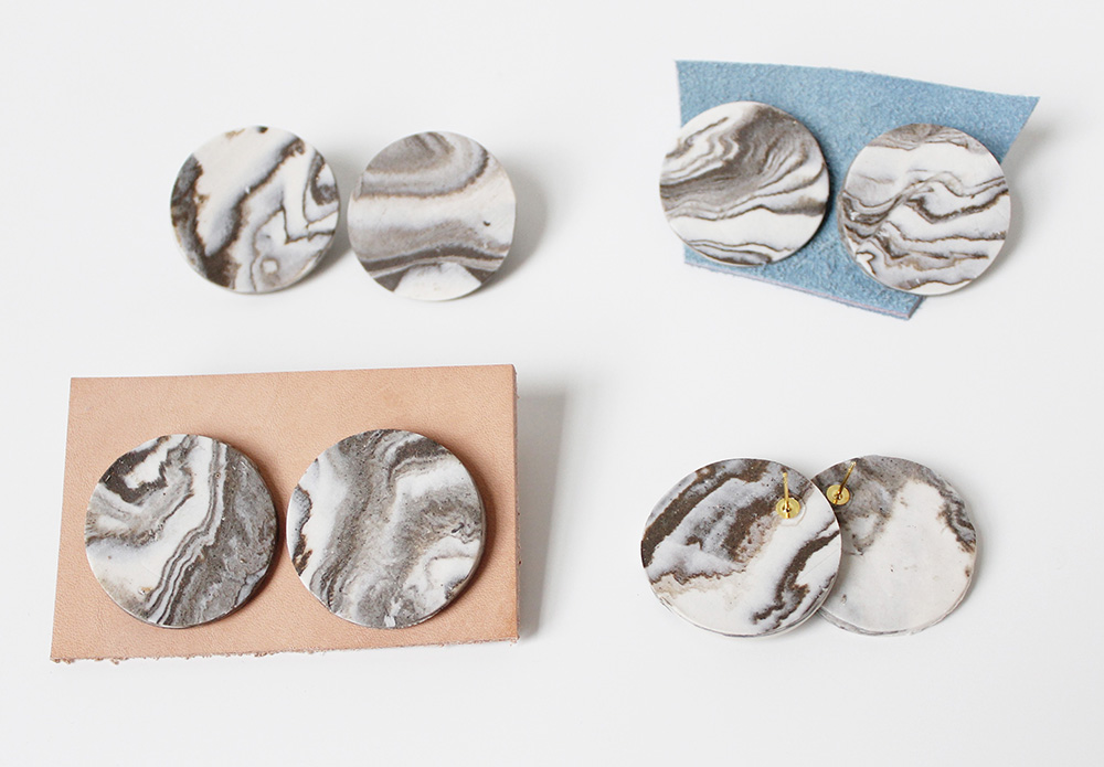 """""""Marbled Earrings"""" – Janelle Gramling"""