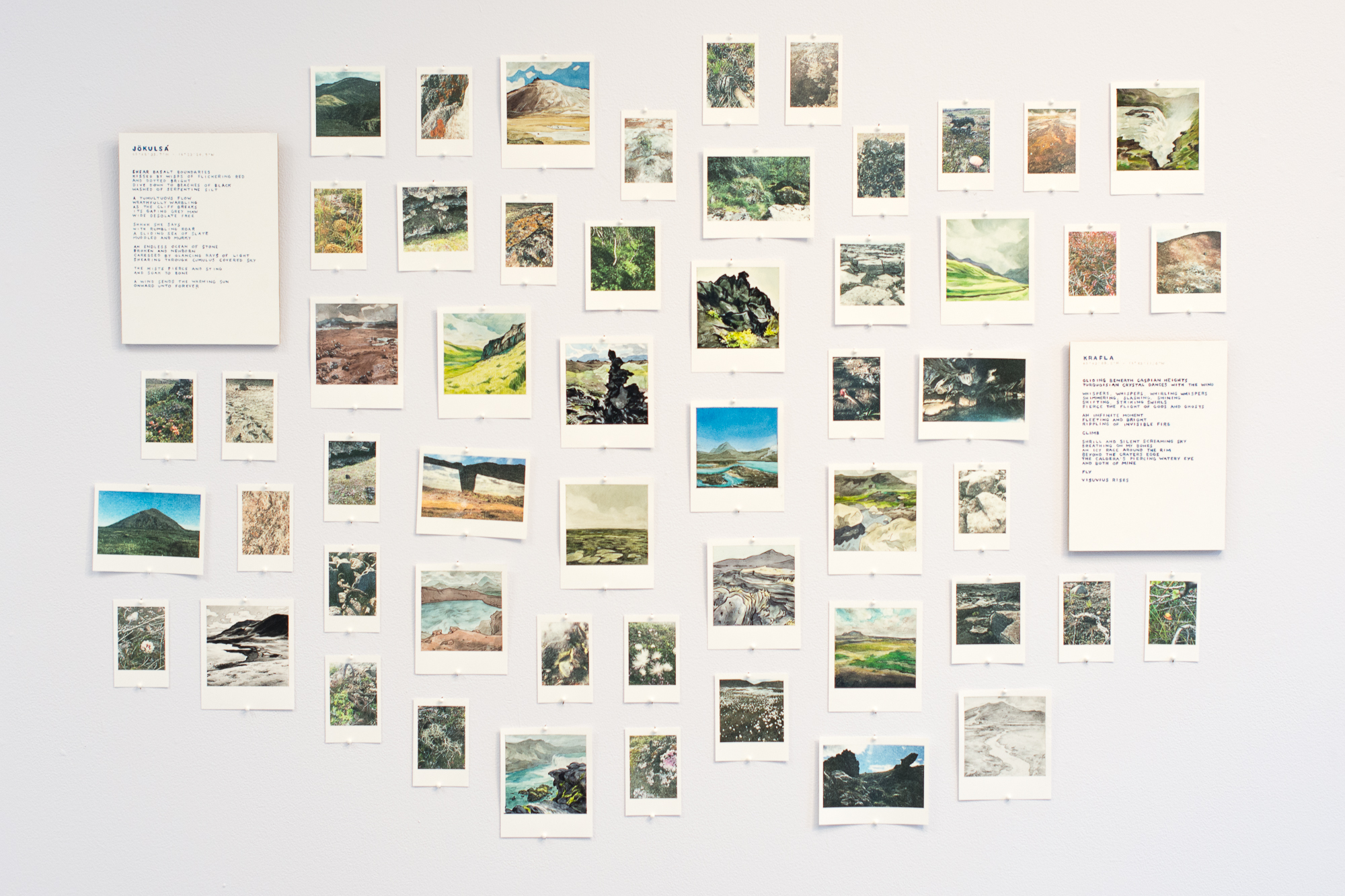 """Jökulsá & Krafla, Painted Polaroids, and Photo Transfers"" by Casey Hunt"