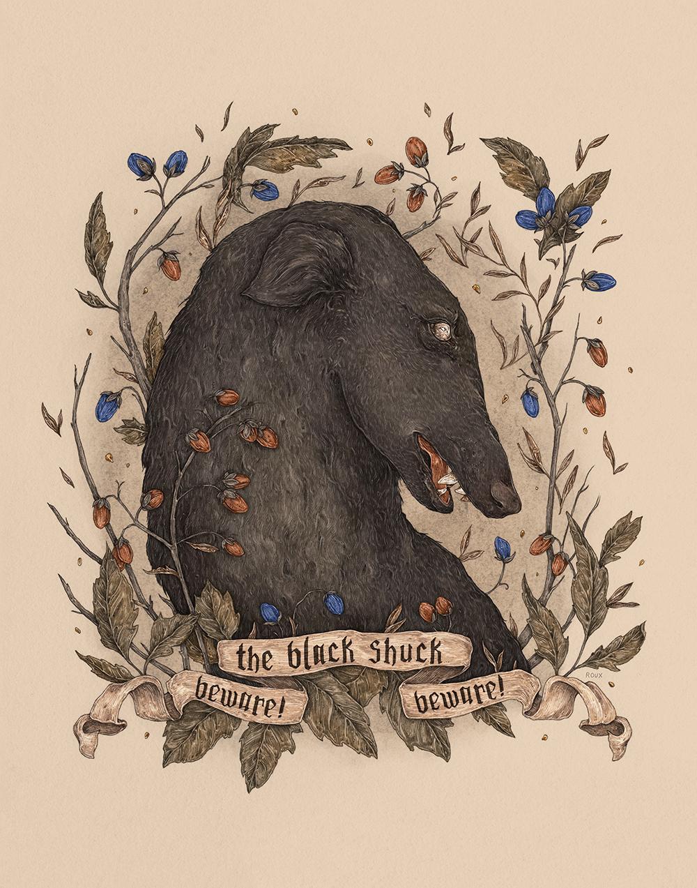 """Beware, The Black Shuck"" by Jessica Roux"