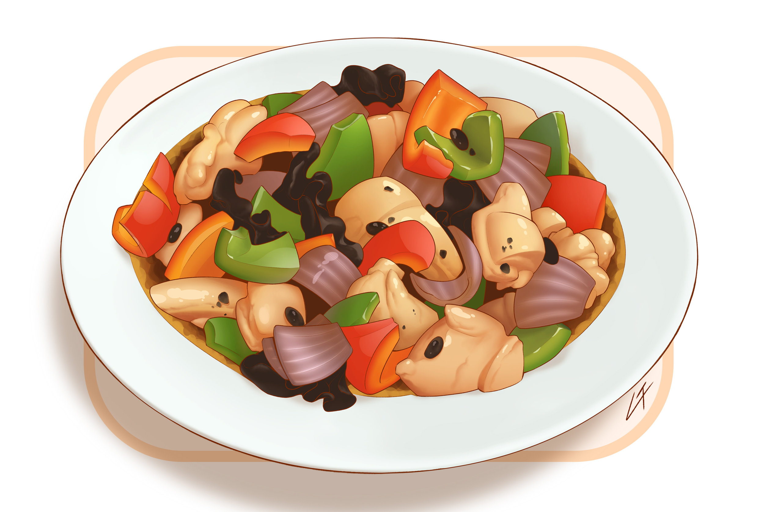 """""""Chicken and Vegetables in Black Bean Sauce"""""""