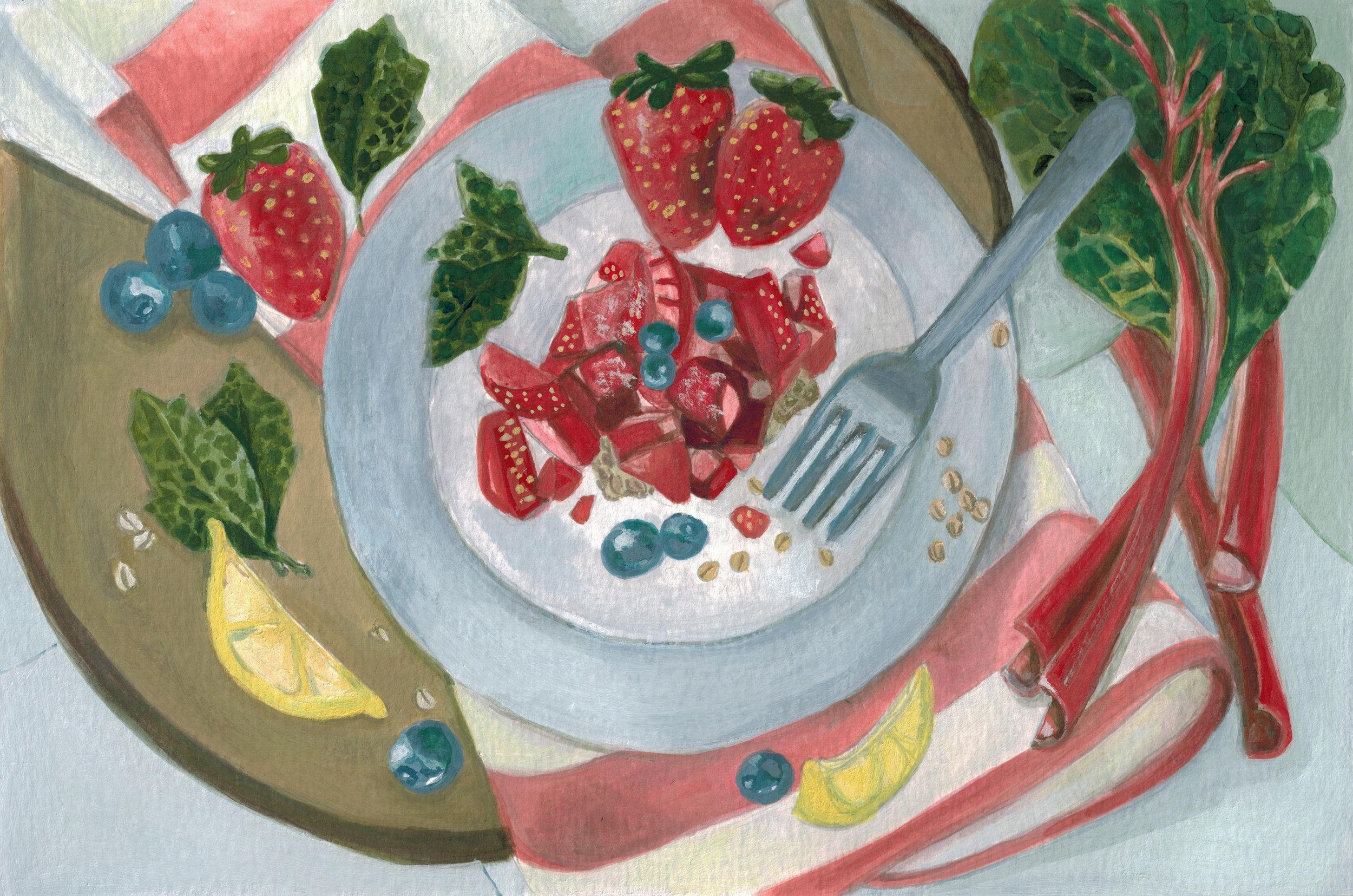"""Strawberry Rhubarb Summer Crisp"""
