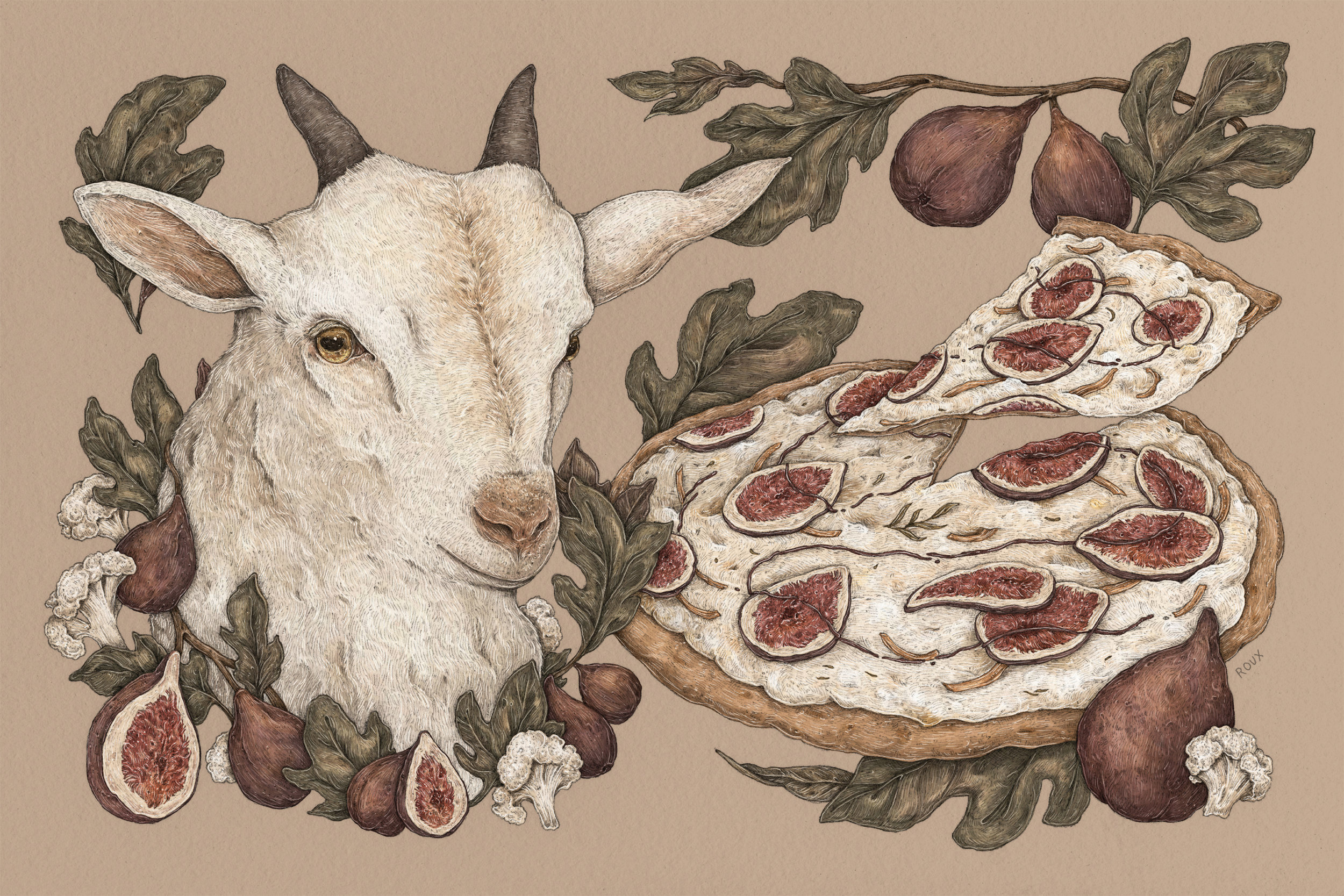 """""""Fig and Goat Cheese Pizza"""""""