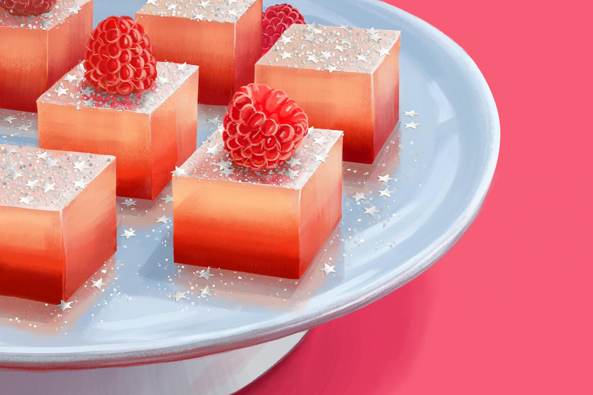 """""""Raspberry Champagne Jello Shots"""""""