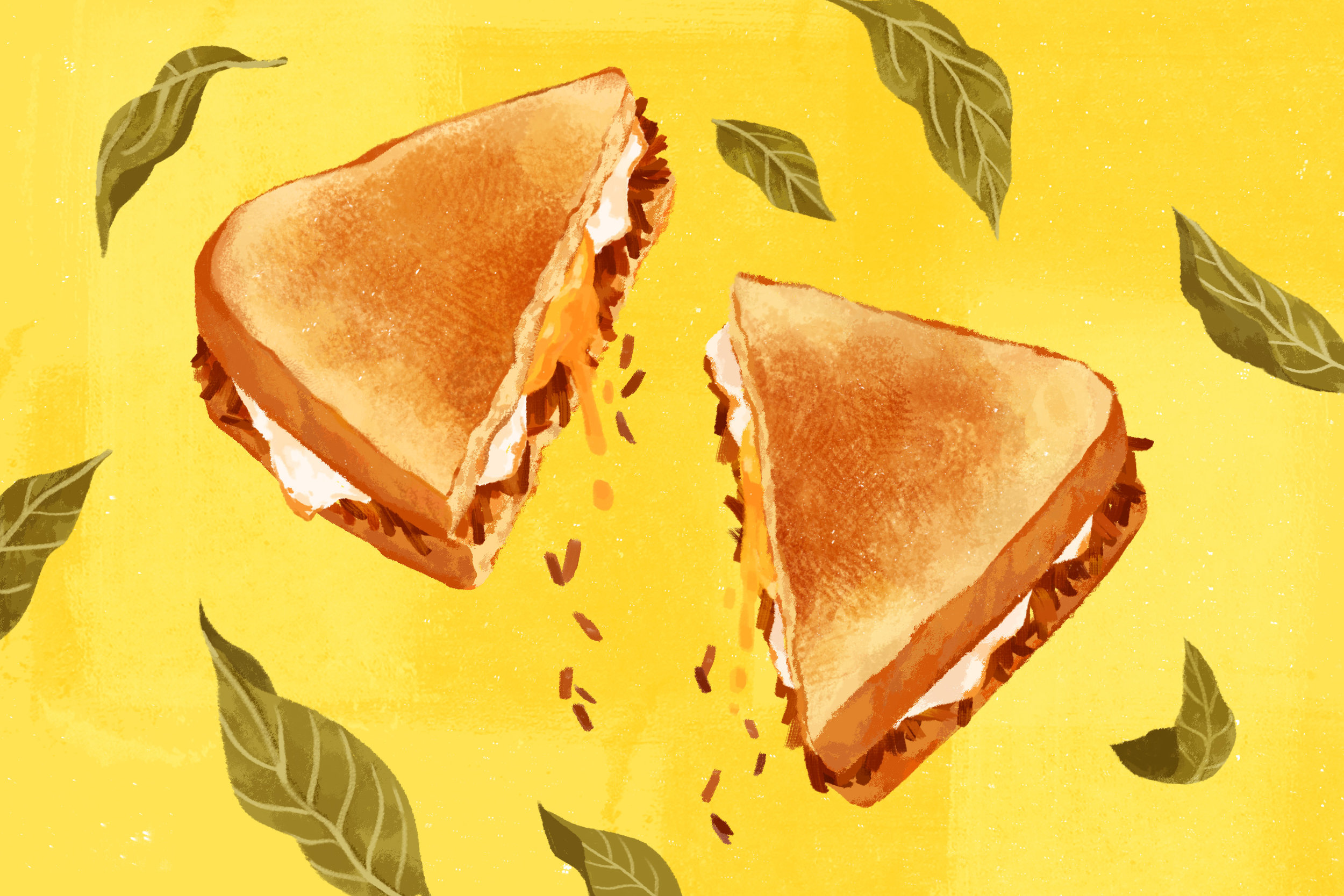 """Adobo Flakes Sandwich"""