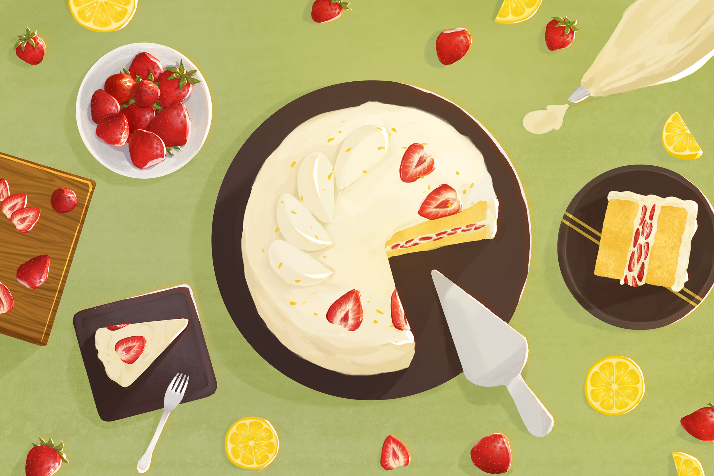 """Korean Fresh Cream Cake"""