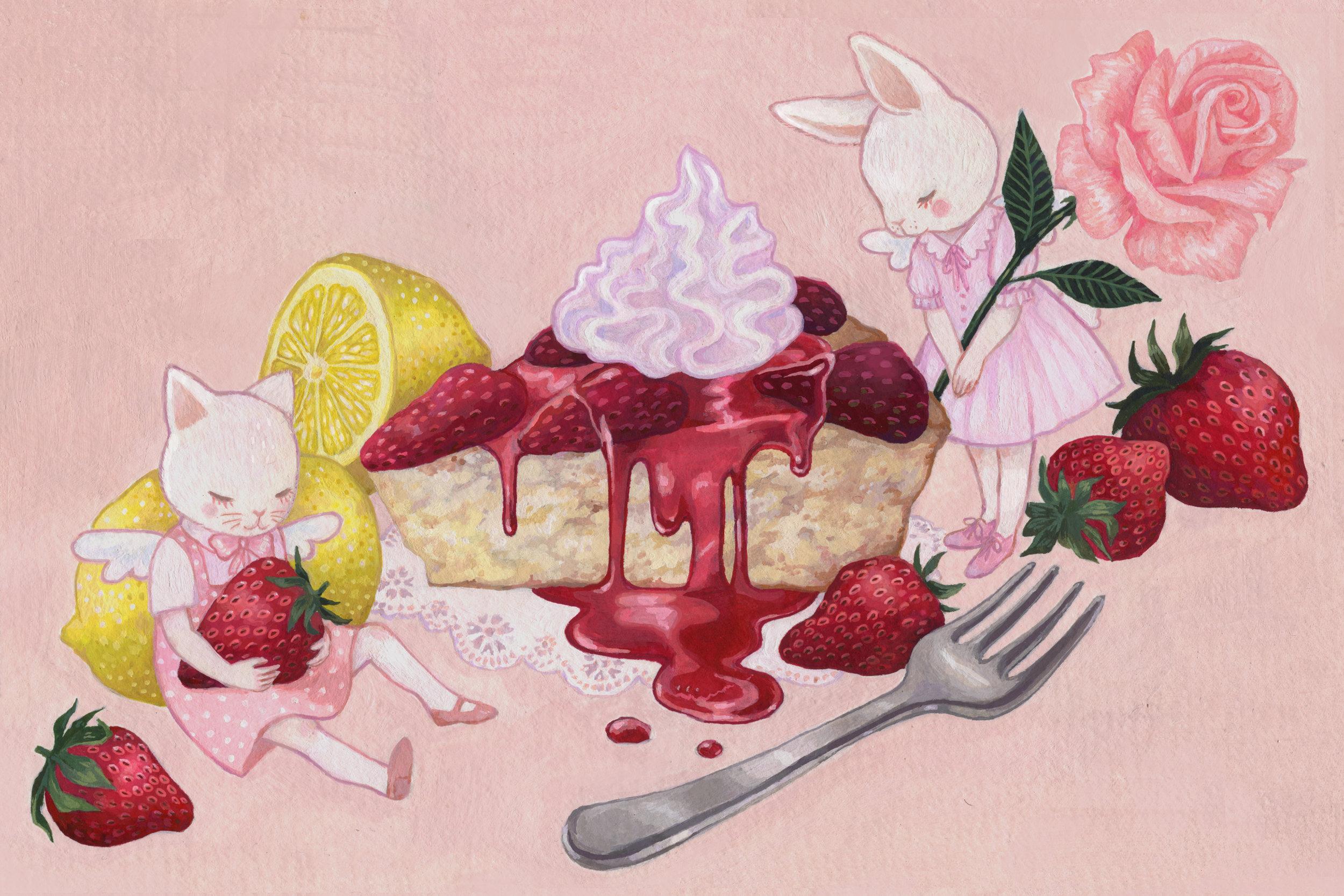 """Strawberry Lemon Cake"""