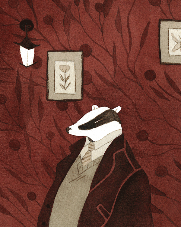 """Mr. Badger's Study"""