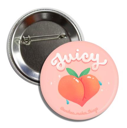Juicy Peach Button