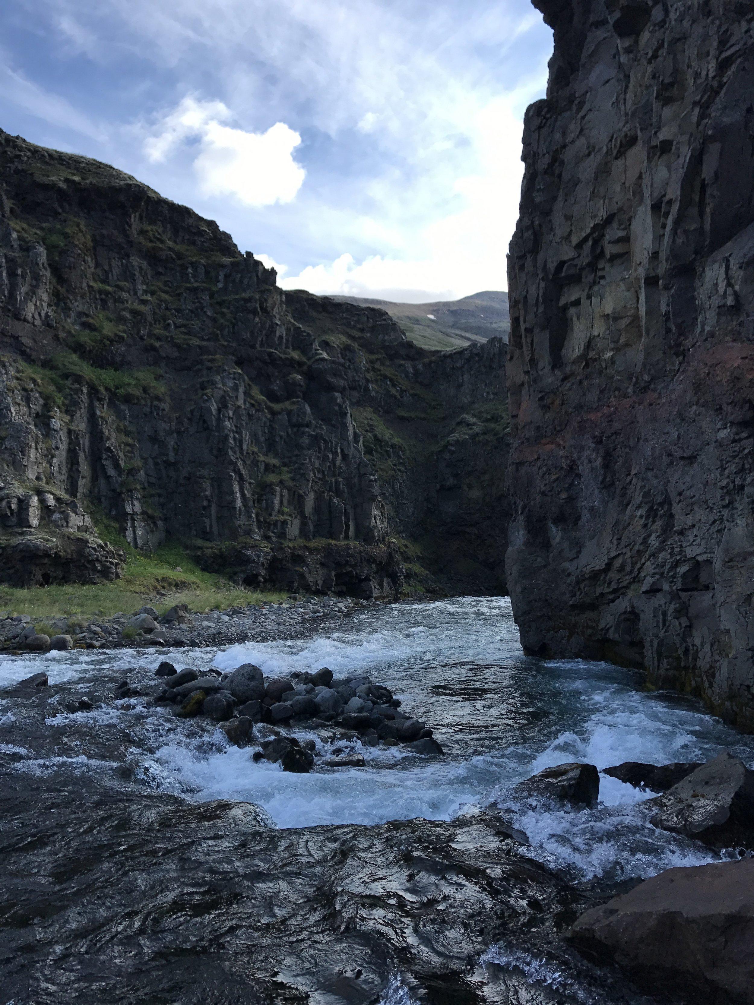 A hidden river through the rock