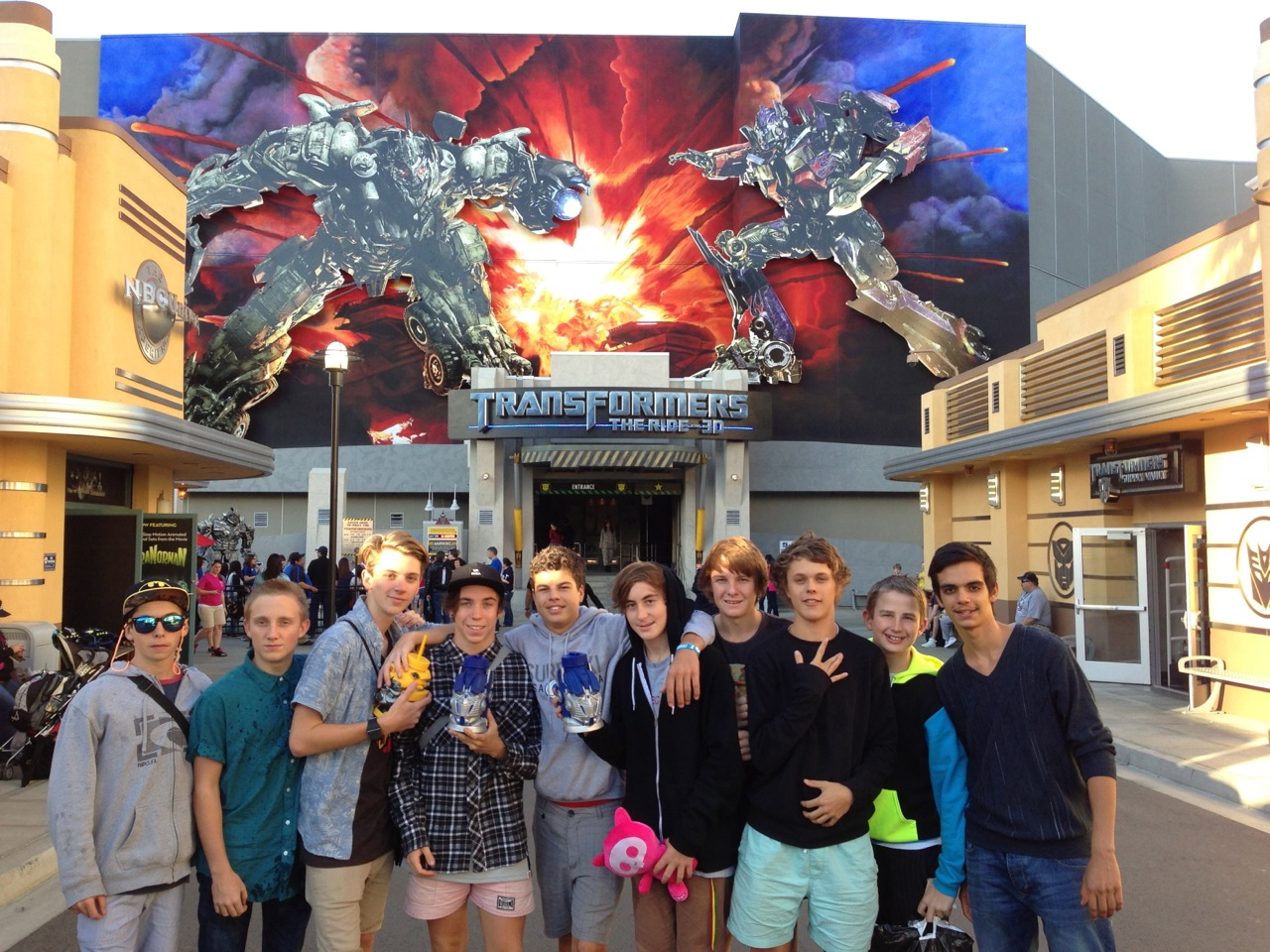 The Transformers ride was awesome...