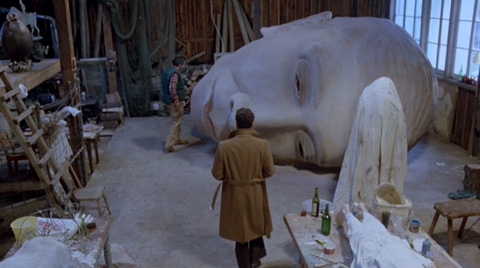 Excuse me, do you know where I might find a giant sculpture of a head? OH thanks!