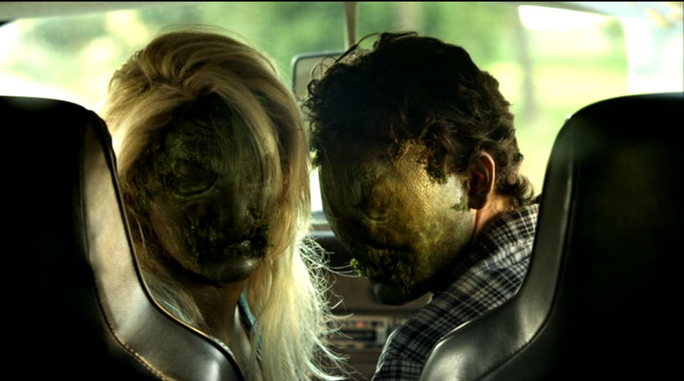 Swamp Thing's kids on their way to school.