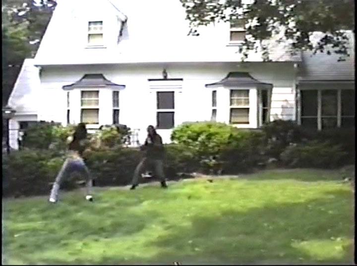 LITERALLY filmed in someone's backyard.