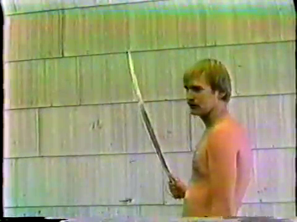 Bringing a sword to a bar fight.
