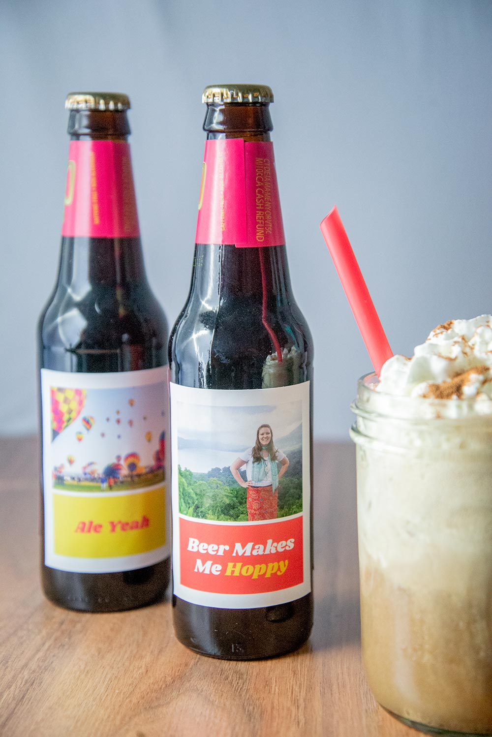 Cinnamon Roll Root Beer Float - Personalized Bottle Labels