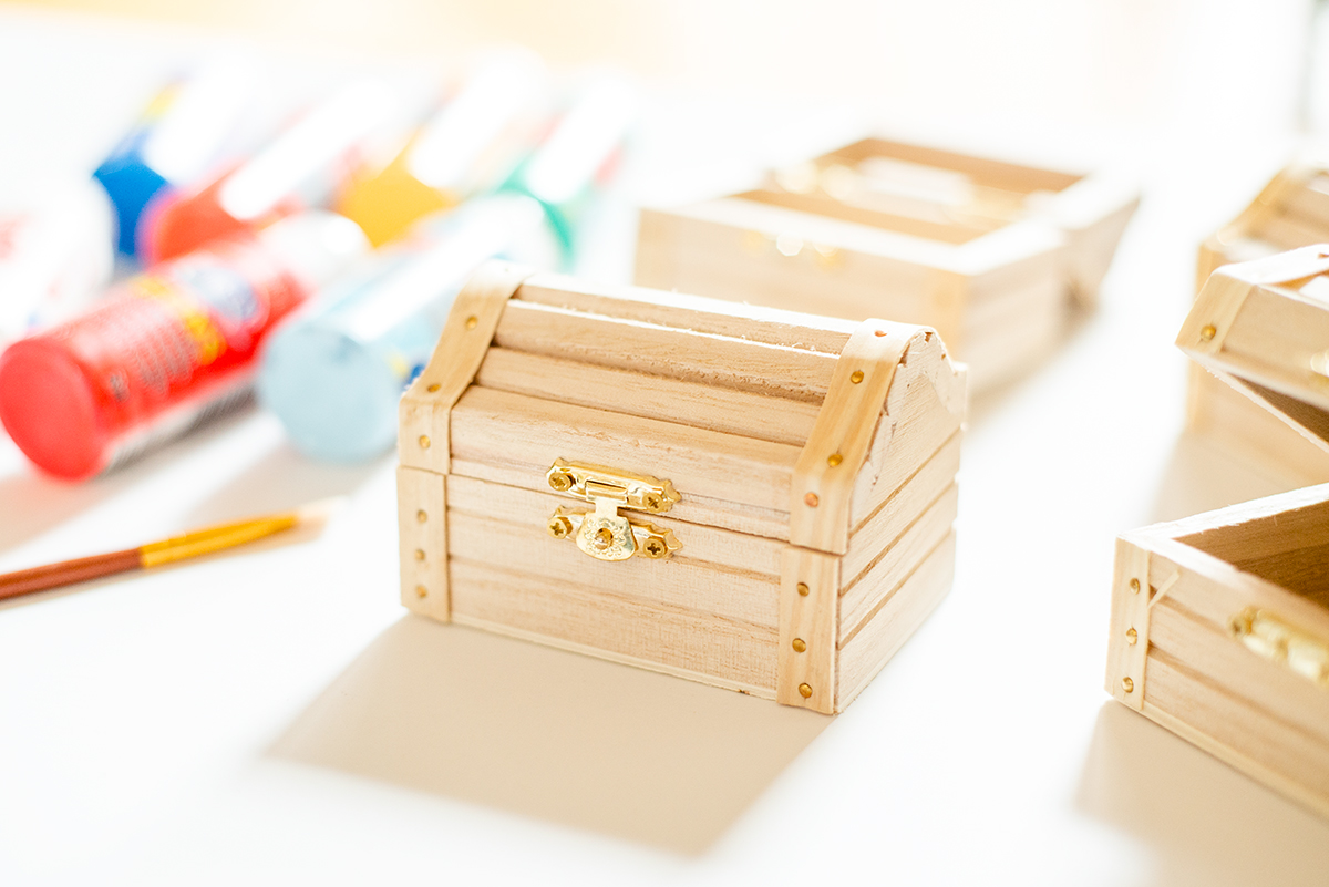 Wood Treasure Boxes from Michaels