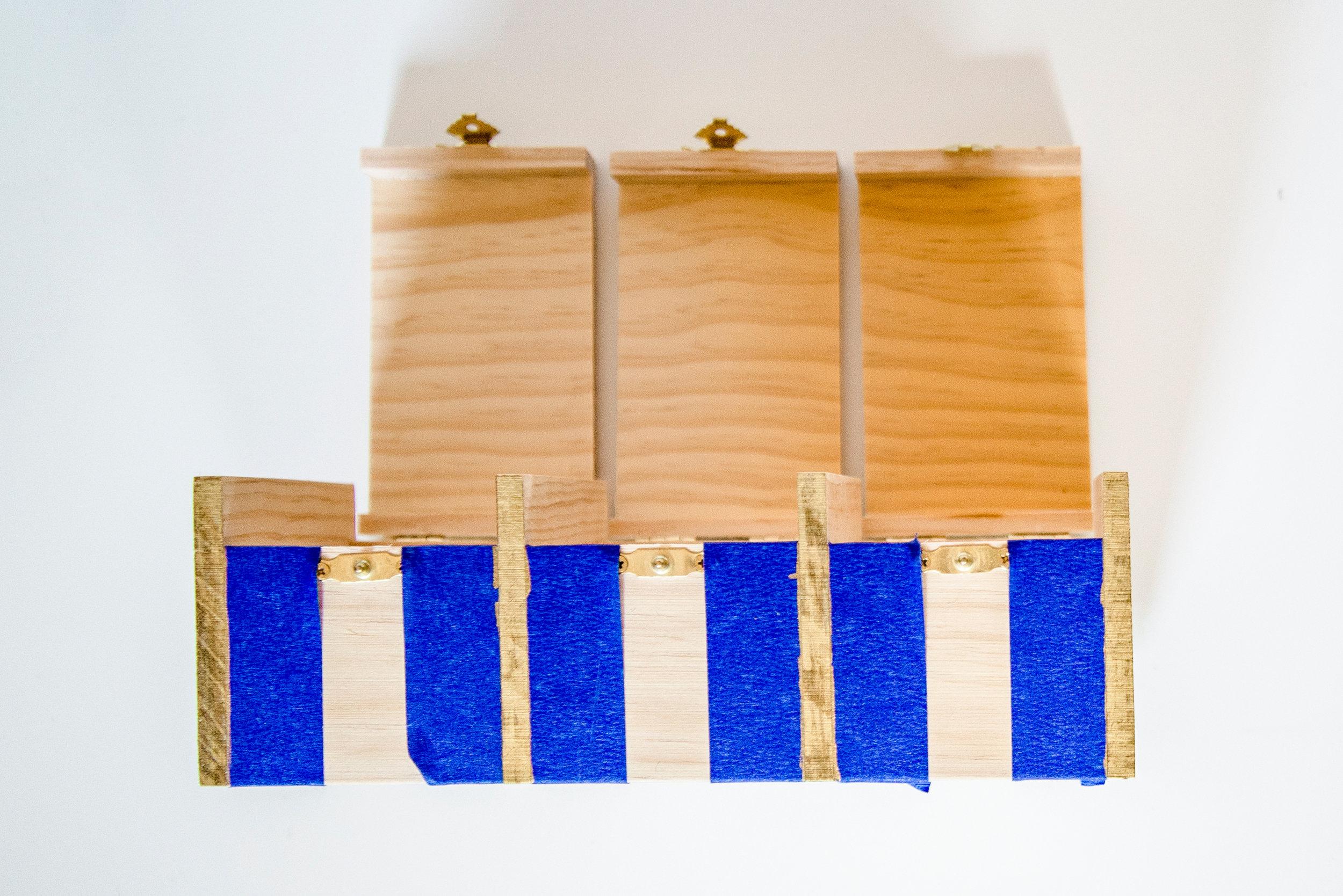 DIY Tea Box Sides Taped