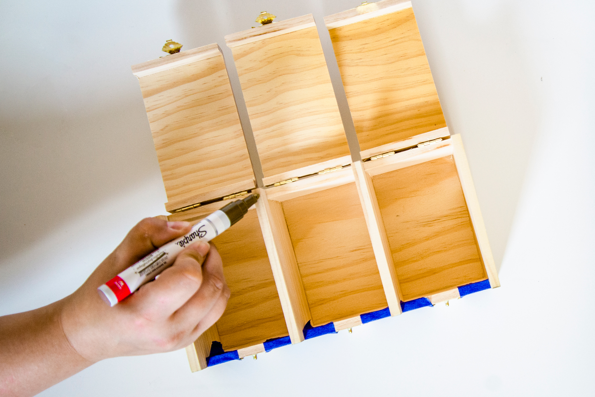 DIY Tea Box Painted Sides