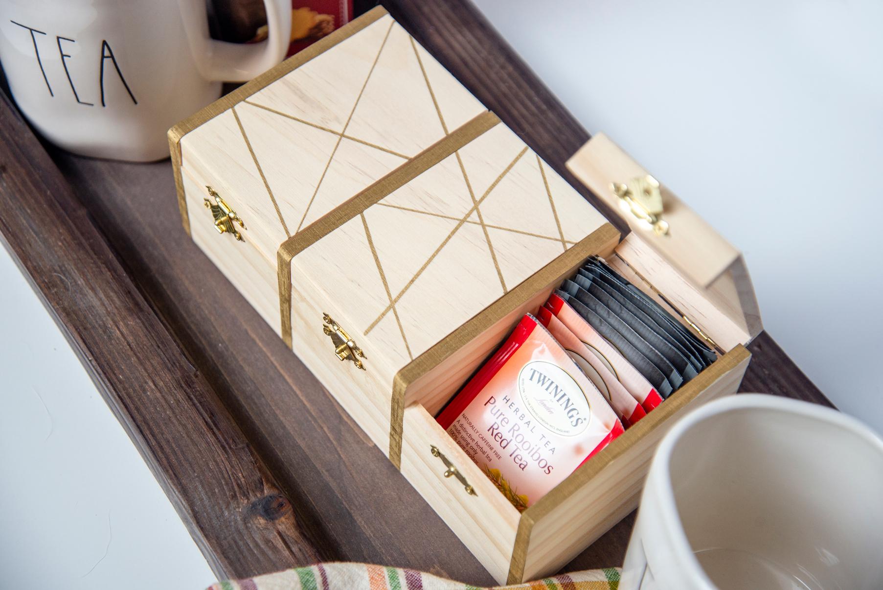 Hostess Gift DIY Painted Tea Box
