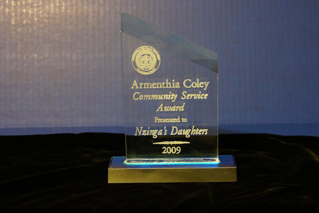 2009 Armenthia Coley Community Service Award.jpg