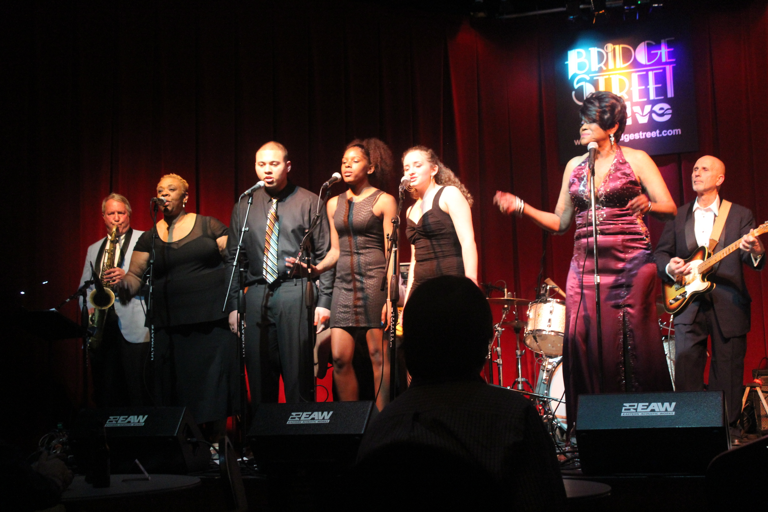 Betty Harris and the Crew at Bridge St Live.JPG