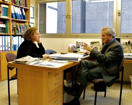 Interviewing diabetologist Itamar Raz in Jerusalem