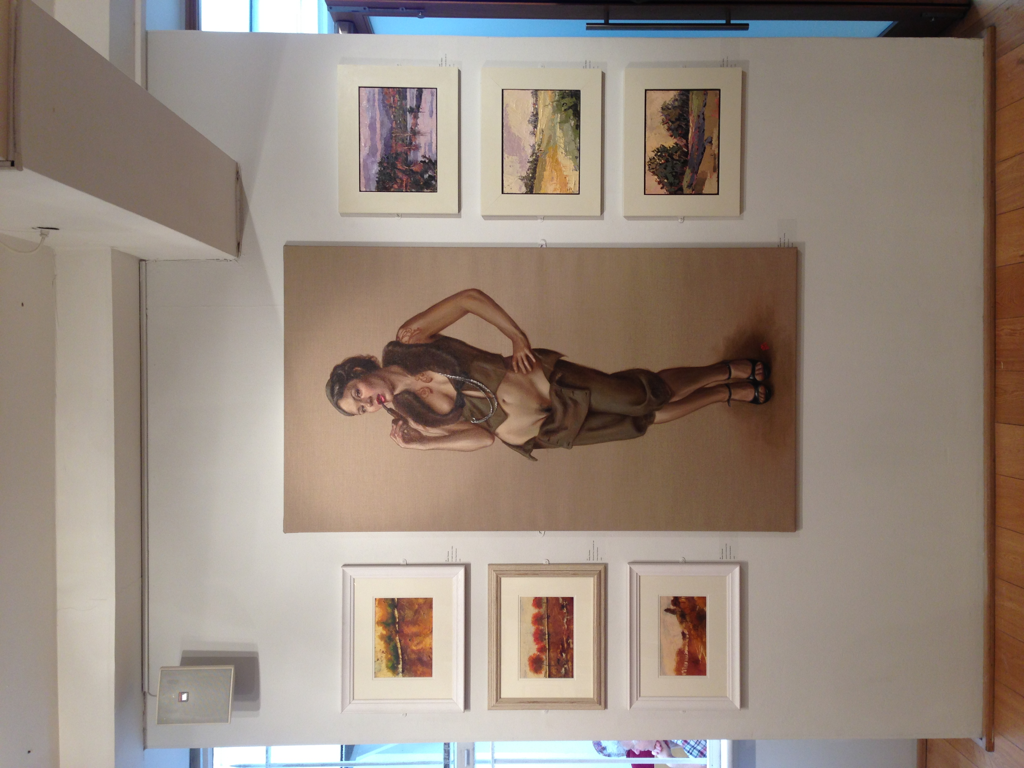 Portrait of Ms Ruby May, standing on show at the Mall Galleries, London until 5th July