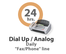American Payroll Services Inc. offers dial up connectivity for time-keeping.