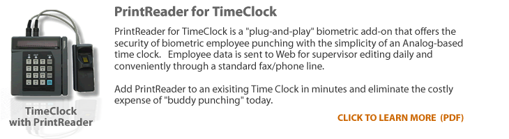 TimeClock with PrintReader
