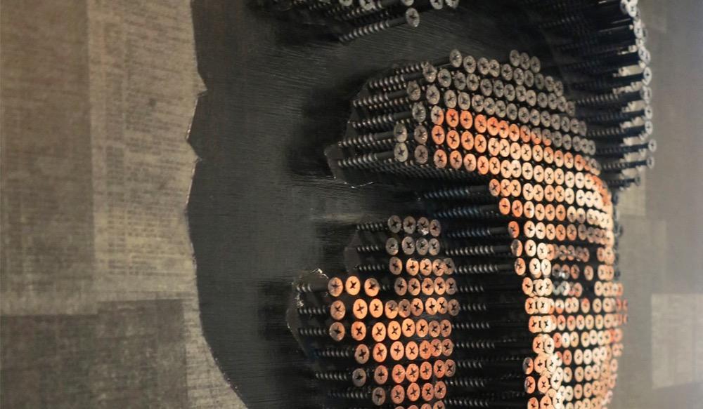 Andrew Meyers Art. Screw Sculpture.