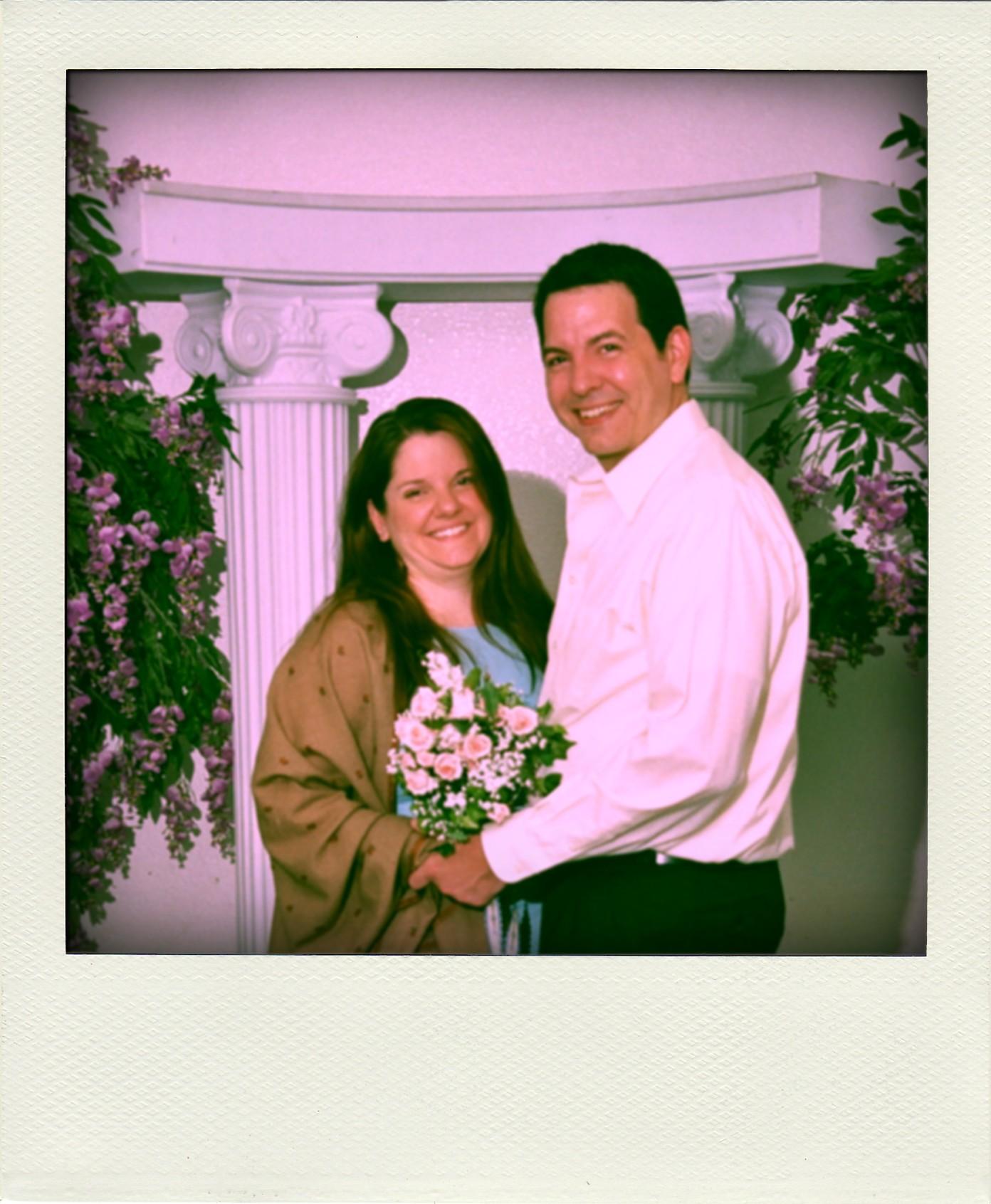 Cheesy Las Vegas Wedding Photo