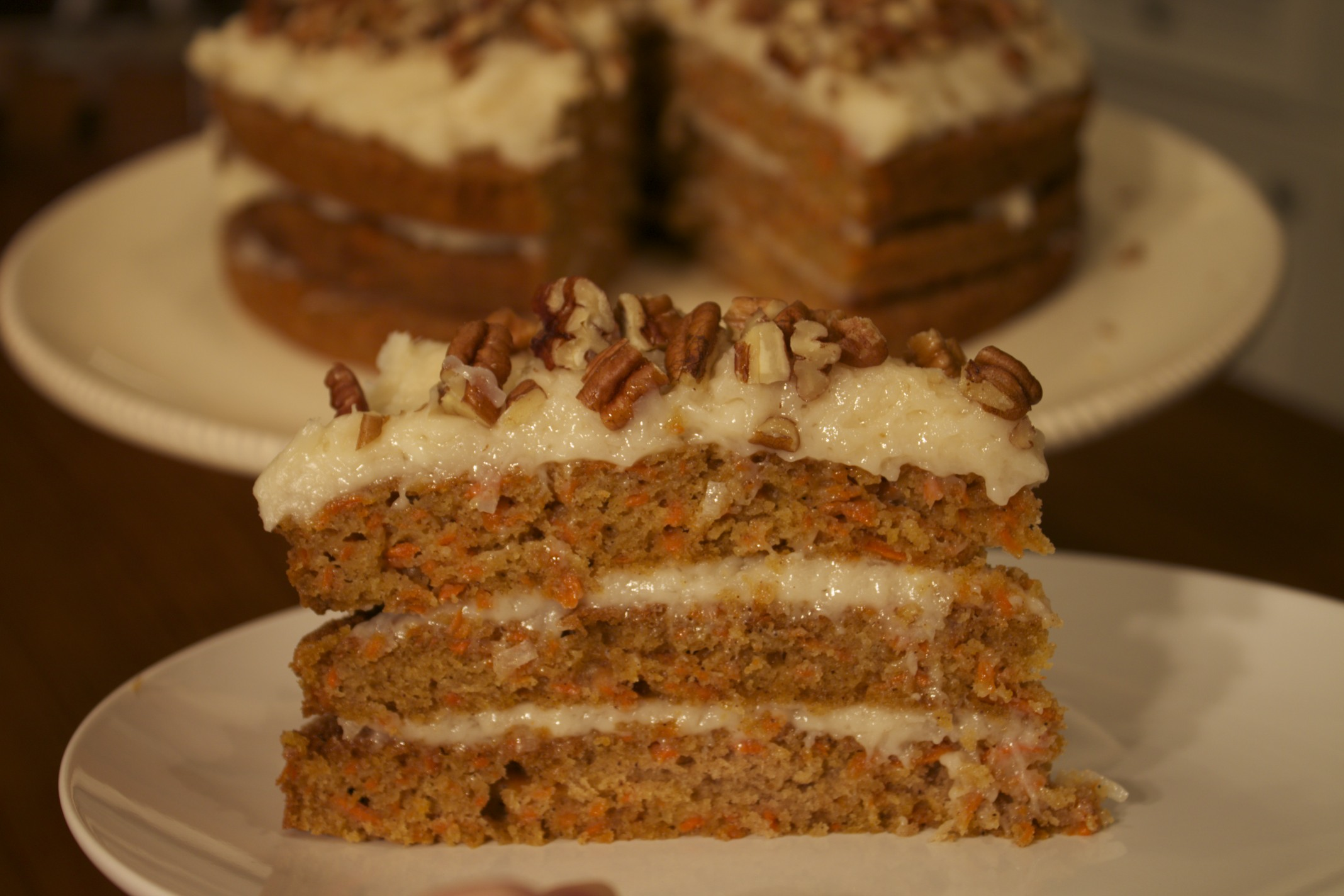 carrot cake--a little healthier!