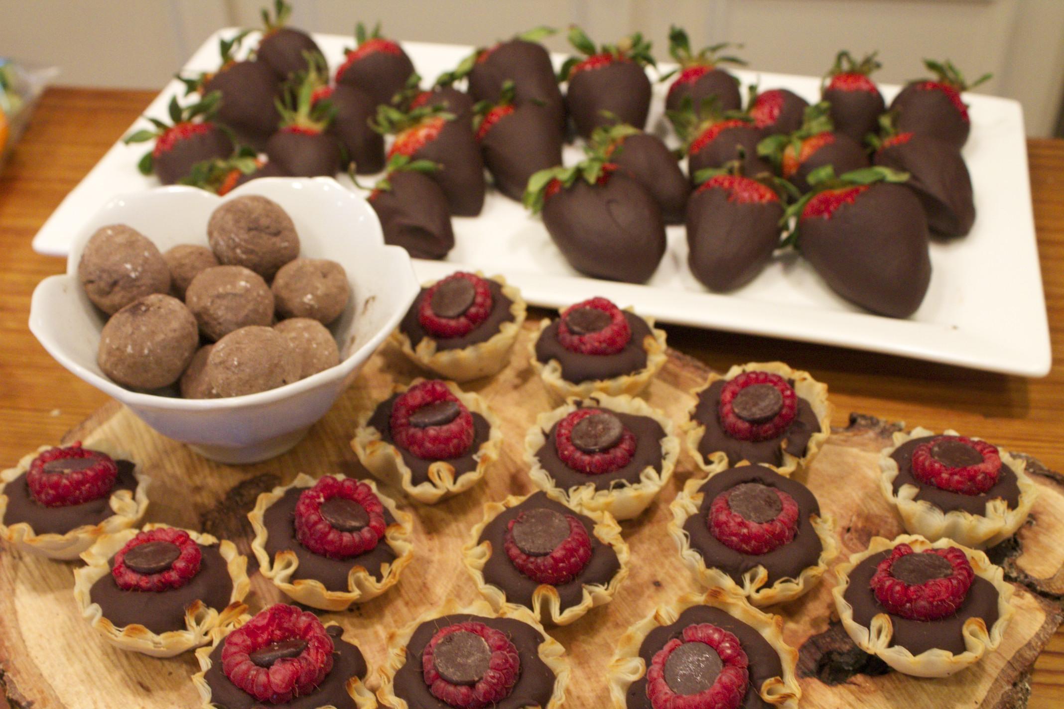 raspberry chocolate truffle tarts