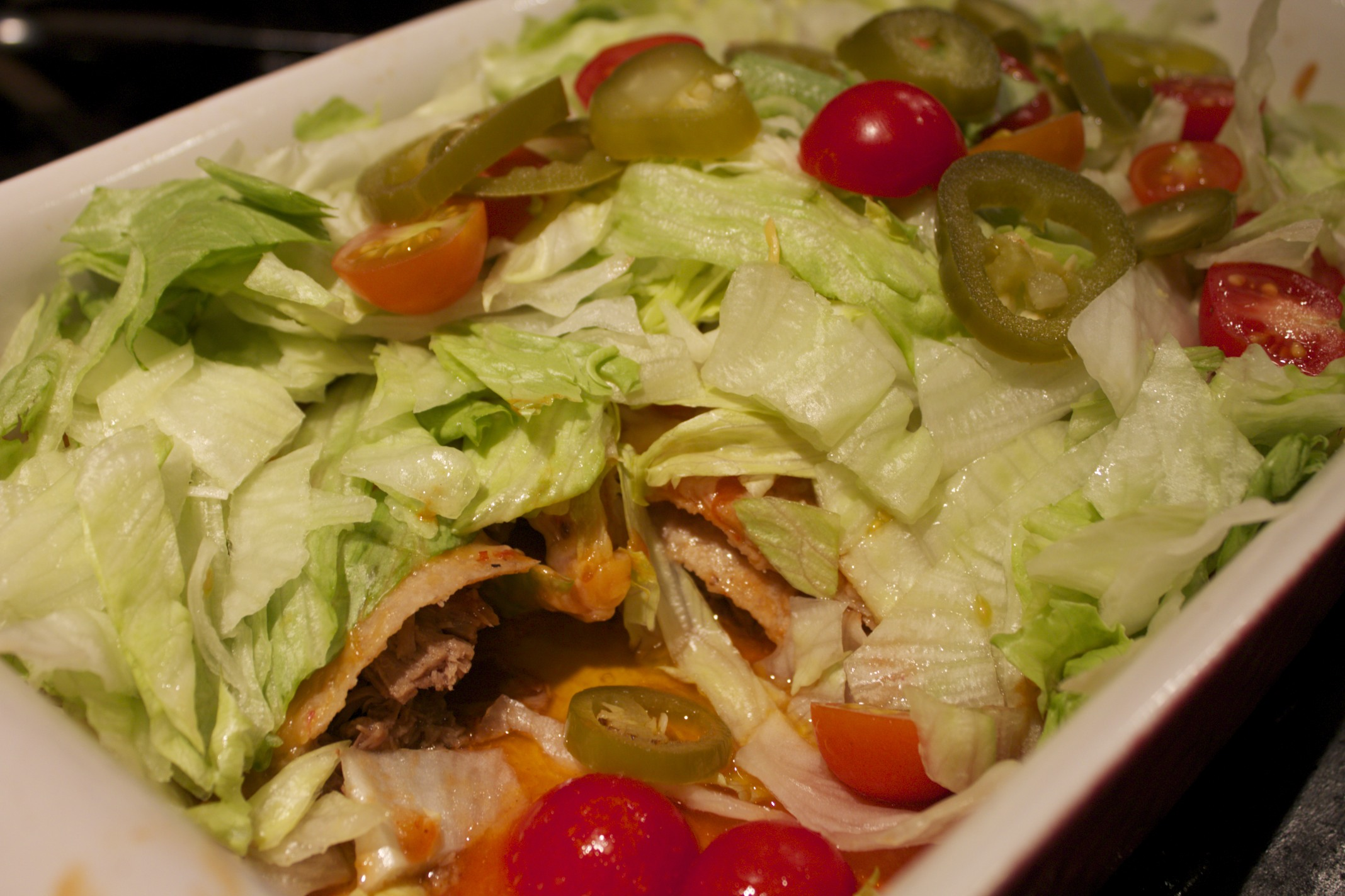 chipotle pork enchilada salad
